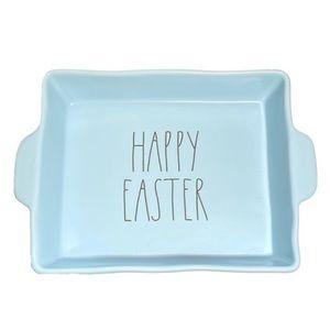 "Rae Dunn ""Happy Easter"" Blue Ceramic Tray"